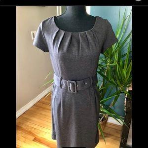 H&M Grey Knit Belted Dress-Size 8-10